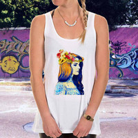 lana del rey tatto for men,women,tank top