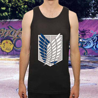 Shingeki no Kyojin Attack on Titan for men,women,tank top