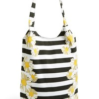 Amici Accessories Daisy Stripe Canvas Tote (Juniors) (Online Only) | Nordstrom
