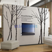 Birch tree wall decals Wall Birch Tree Decal Forest, Birch Trees, Birch Tree Wall Decal Nature Wall Decal