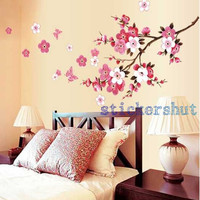 Cherry Blossom Decal Cherry Blossom wall Decal tree Branch stickers girl floral wall decor