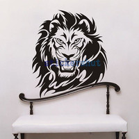 large lion Wall Decal lion decal lion wall art stickers for lion room  decor