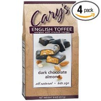 Cary`s Of Oregon Dark Chocolate Almond English Toffee, 8-Ounce Boxes (Pack of 4)