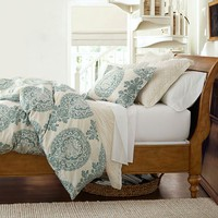 Lucianna Medallion Duvet Cover & Sham - Blue