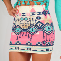 Surefire Feeling Skirt: Multi