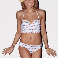 Daisy Stripe Dot Swim Midkini