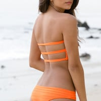 The Girl and The Water - Mikoh Swimwear - Tamarama Bikini Bottom / Sunrise - $100