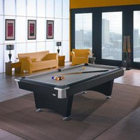 Costco - Contendor Series by Brunswick Black Wolf Billiard Table