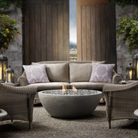 River Rock Fire Bowl | Fire Tables & Fire Bowls | Restoration Hardware