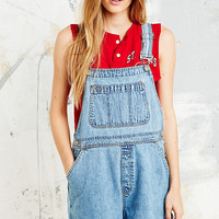 Vintage Renewal Dungaree Shorts in Blue Denim - Urban Outfitters