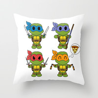 TMNT Chibis Throw Pillow by Katie Simpson | Society6