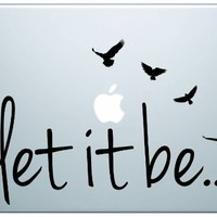 Let It Be The Beatles Laptop Decal Sticker Vinyl Art Music