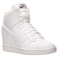 Women's Nike Dunk Sky High Leather Casual Shoes
