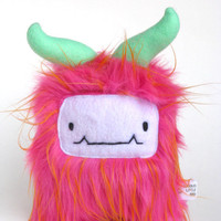 Furry Monster Bright Pink fur Berry is a by curiouslittlebird