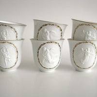 Vintage Teacups Bing &amp; Grondahl Denmark White by pillowsophi
