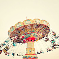 Summer Fling - Carnival Photography, Santa Cruz, Nursery Art, Vacation Fun, Cindo de Mayo, Colorful, Child's Room, Pastel, Yellow, Red