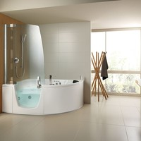 Bathtub with shower 383 Combinati Collection by TEUCO GUZZINI | design Lenci Design