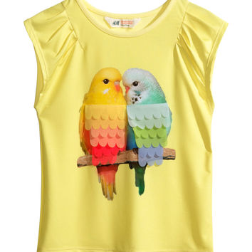 H&M - Jersey Top with Printed Design - Light pink - Kids