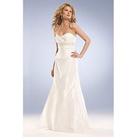 Empire Sweetheart Brush Train Taffeta wedding dress for brides 2011 Style(WD0042) - Empire - Wedding Dresses