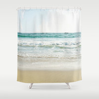 The Beach Shower Curtain by The ShutterbugEye