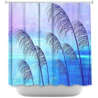 Shower Curtain Artistic Designer from DiaNoche Designs by Iris Lehnhardt Stylish, Decorative, Unique, Cool, Fun, Funky, Stylish, Decorative, Cool, Fun, Funky Home Decor and Bathroom Ideas - Tropical