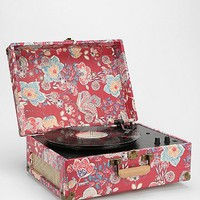Crosley Keepsake Turntable in Ruby Print EU Plug - Urban Outfitters