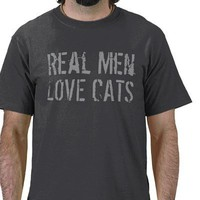 Real Men Love Cats Funny T-Shirt from