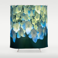 Peek -A- Blue Shower Curtain by The Dreamery | Society6
