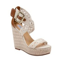 MAGESTEE NATURAL women's sandal high wedge - Steve Madden
