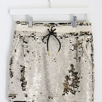 Sporty Sequined Skirt