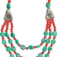 RA TRIPLE LAYERED NECKLACE