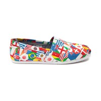 Mens TOMS Classic World Flag Casual Shoe