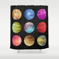 Unknown worlds Shower Curtain by Elisabeth Fredriksson | Society6