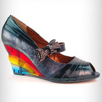 Over The Rainbow Wedge Heels | PLASTICLAND