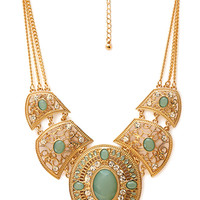 Western Redux Faux Stone Necklace
