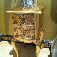 Fabulous and Baroque — Josephine Petite Side Table - Gold Leaf - Client Photo