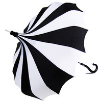 Bella Umbrella Black and White Pinwheel