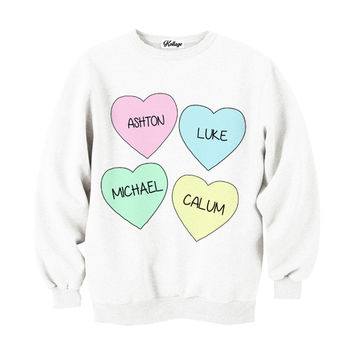 I Heart 5SOS Crew-neck Sweatshirt
