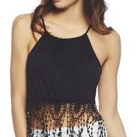 Crochet Trim Crop Top | Wet Seal
