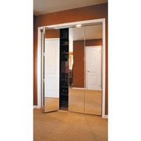 Impact Plus, Beveled Edge Mirror Solid Core Chrome MDF Interior Bi-fold Closet Door, BMP3422068C at The Home Depot - Mobile