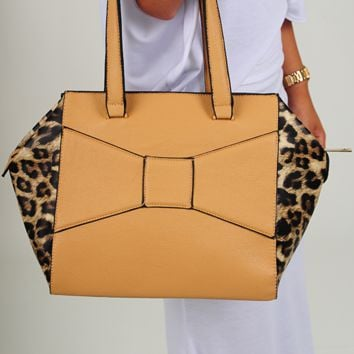 The Wild Card Purse: Tan/Cheetah
