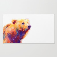 The Protective - Bear Area & Throw Rug by Jacqueline Maldonado