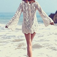 Free People Womens Infinite Arms Lace Tunic -