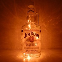 Jim Beam Kentucky Bourbon Whiskey Lighted Bottle | BoMoLuTra - Housewares on ArtFire