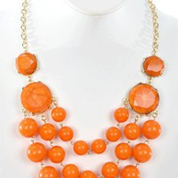 Beaded Beauty in Orange