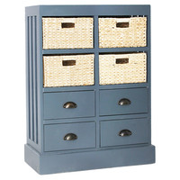 Nantucket Four-Drawer Unit, Gray