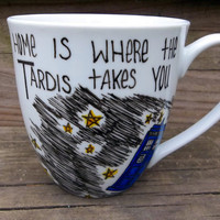 Dr Who Home Is Where The Tardis Takes You Coffee Mug by betwixxt