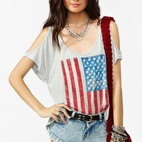 Stars  Bars Cutout Tee in  Clothes at Nasty Gal