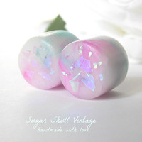 Opal Plugs - Opal Gauges - Made to Order 6, 4, 2, 0, 00, 7/16, 1/2, 9/16, 5/8, 3/4, 7/8, 1""