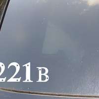 Sherlock Holmes 221B Address Car Decal by KellyCreationDecals